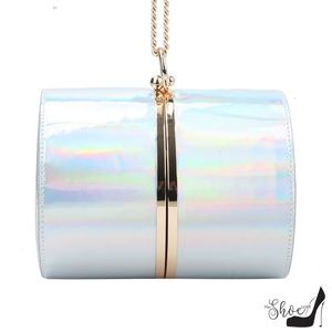 My Bag Lady Online Bags - Cylinder Patent Leather Clutch